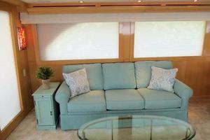 75' Hatteras Motoryacht 2002 PORTSIDE CONVERTIBLE SOFA