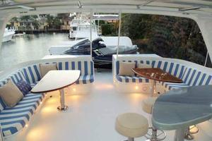 75' Hatteras Motoryacht 2002 FLYBRIDGE LOOKING AFT