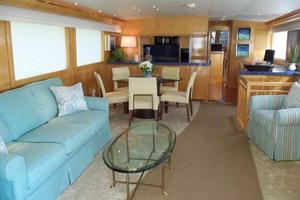 75' Hatteras Motoryacht 2002 SALON LOOKING FORWARD