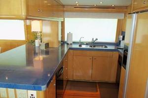 75' Hatteras Motoryacht 2002 GALLEY LOOKING TO PORT