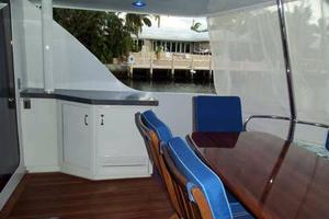 75' Hatteras Motoryacht 2002 AFT DECK LOOKING STARBOARD