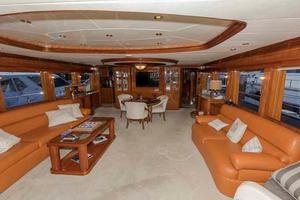 87' Johnson Flybridge w/Euro Transom 2005 Salon Looking Forward