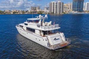 87' Johnson Flybridge w/Euro Transom 2005 Stern Quarter