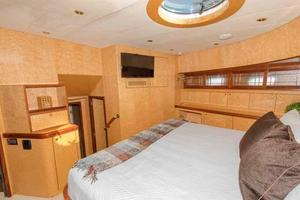 87' Johnson Flybridge w/Euro Transom 2005 VIP Looking Aft to Port