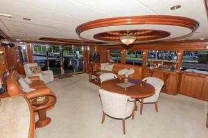 87' Johnson Flybridge w/Euro Transom 2005 Salon Looking Aft