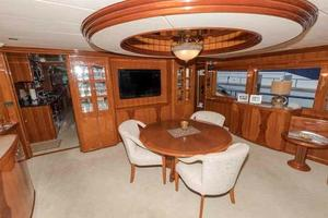 87' Johnson Flybridge w/Euro Transom 2005 Dining Area Looking Forward