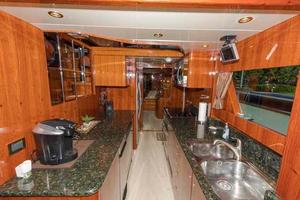 87' Johnson Flybridge w/Euro Transom 2005 Galley Looking Aft