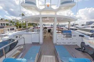 87' Johnson Flybridge w/Euro Transom 2005 Flybridge Looking Forward