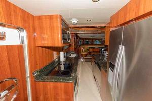 87' Johnson Flybridge w/Euro Transom 2005 Galley Looking Forward