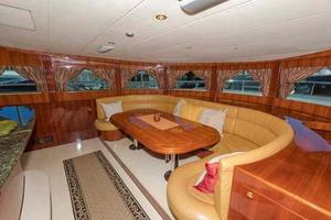 87' Johnson Flybridge w/Euro Transom 2005 Galley Dining to Port