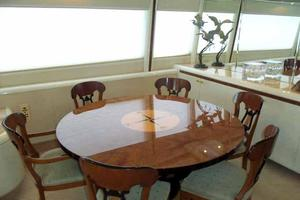 76' Lazzara Grand Salon/Skylounge 1998 Dining Table