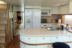 76' Lazzara Grand Salon/Skylounge 1998 Galley Looking Aft