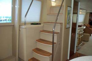 76' Lazzara Grand Salon/Skylounge 1998 Skylounge Steps in Galley