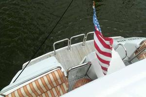 76' Lazzara Grand Salon/Skylounge 1998 View Aft From Boat Deck