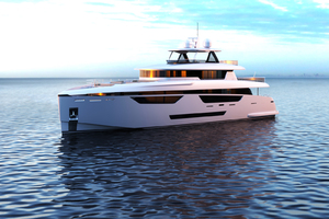 115' Johnson SKYLOUNGE w/FB w/ON-DECK MASTER 2020 Port side