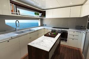 115' Johnson Skylounge W/fb W/on-deck Master 2019 Galley