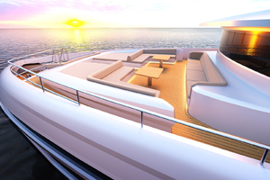 115' Johnson SKYLOUNGE w/FB w/ON-DECK MASTER 2020 Forward Lounge