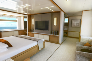 115' Johnson SKYLOUNGE w/FB w/ON-DECK MASTER 2020 Master Stateroom