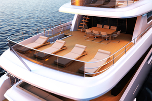 115' Johnson SKYLOUNGE w/FB w/ON-DECK MASTER 2020 Upper Aft Deck