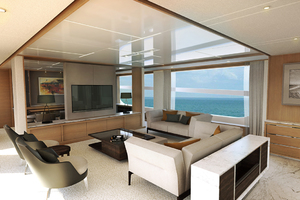 115' Johnson SKYLOUNGE w/FB w/ON-DECK MASTER 2020 Salon