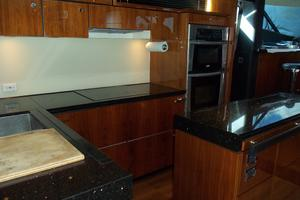 74' Fairline Squadron 2007 GALLEY LOOKING FORWARD