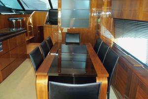 74' Fairline Squadron 2007 DINING LOOKING FORWARD