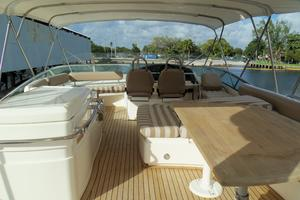 74' Fairline Squadron 2007 FLYBRIDGE LOOKING FORWARD