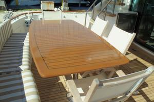 74' Fairline Squadron 2007 AFT DECK TABLE