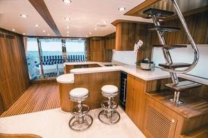 83' Johnson Flybridge W/hydraulic Platform 2020 Aft Galley Option