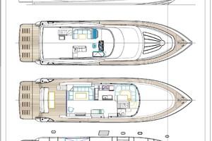 80' Johnson 80' Flybridge w/Hydraulic Platform 2019 General arrangement