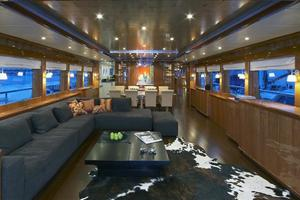 110' Johnson 110' Skylounge W/on-deck Master 2020 Salon Looking Fwd.