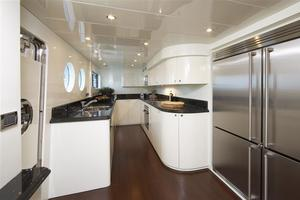 110' Johnson 110' Skylounge W/on-deck Master 2020 Galley