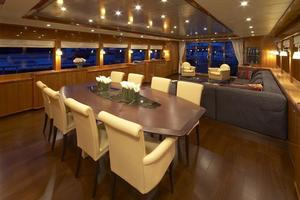 110' Johnson 110' Flybridge w/On-Deck Master 2020 Dining Salon