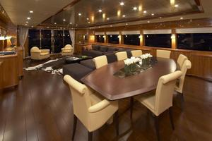 110' Johnson 110' Flybridge w/On-Deck Master 2020 Salon Looking aft