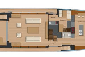 92' Johnson Flybridge W/on-deck Master 2020 Main deck country kitchen