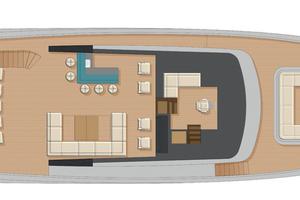 92' Johnson Flybridge W/on-deck Master 2020 Upper deck