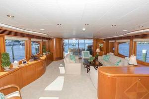 96' Hargrave Capri Skylounge 2004 Salon Looking Aft