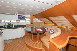 96' Hargrave Capri Skylounge 2004 Galley/Dining to Port
