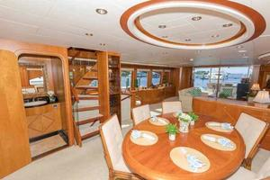 96' Hargrave Capri Skylounge 2004 Dining Area Looking Aft to Starboard