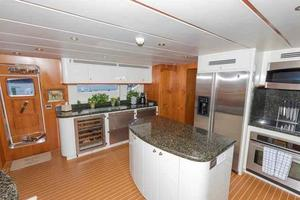 96' Hargrave Capri Skylounge 2004 Galley to Starboard