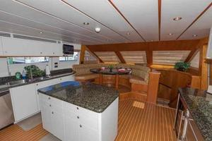 96' Hargrave Capri Skylounge 2004 Galley Looking Forward