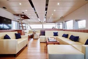 70' Johnson Skylounge Motor Yacht 2019 Salon looking fwd