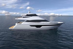70' Johnson Skylounge Motor Yacht 2019 JOHNSON 70 Skylounge Rendering