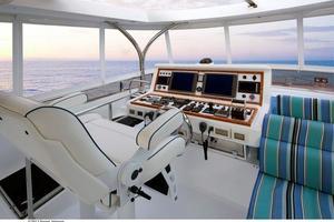 80' Johnson Flybridge W/fishing Cockpit 2020 Flybridge helm