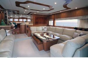 80' Johnson Flybridge W/fishing Cockpit 2020 Salon looking forward