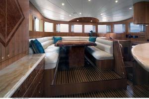80' Johnson Flybridge W/fishing Cockpit 2020 Forward dining area