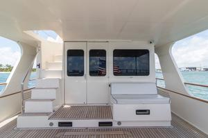70' Marlow 70 Explorer Command Bridge 2008 Aft Deck