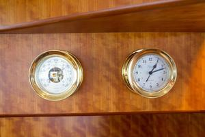 70' Marlow 70 Explorer Command Bridge 2008 Clock and Barometer