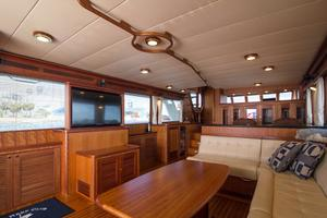 70' Marlow 70 Explorer Command Bridge 2008 Starboard Salon Looking Forward