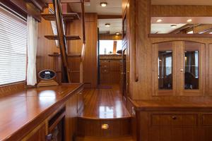 70' Marlow 70 Explorer Command Bridge 2008 Salon Facing Galley